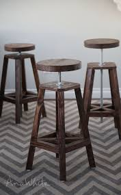 table bar height chairs diy: ana white build a industrial adjustable height bolt bar stool free and easy diy