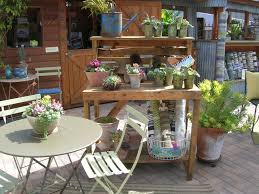 Outdoor Table Decor Round Wooden Folding Garden Tables Outdoor Garden Furniture Set