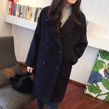 senarai harga 2018 winter fashion women loose new coat long sleeve medium long high quality wool jacket female thicken warm woolen coat terbaru di malaysia