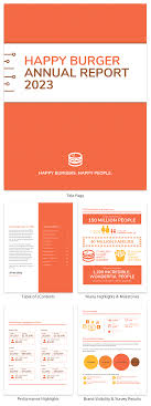 Annual Report Templates Free Download 029 Orange Creative Business Annual Report Template Free