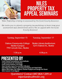 Niles Property Tax Workshop Flier