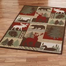 log cabin style area rugs