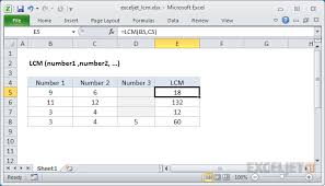 How To Use The Excel Lcm Function Exceljet