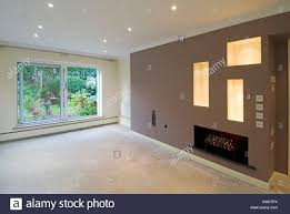 lounge lighting. Makeover Lounge New Lighting, Replastering, Walls Decorated With Emulsion Paint Awaiting Carpet Fitter (wet Plaster See A30E0W) Lighting N