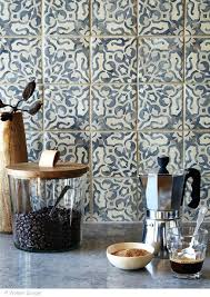 cement tile backsplash i believe the tile in kitchen is this one walker blue cement tile cement tile