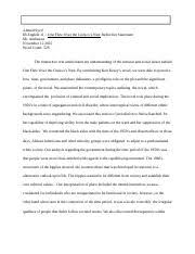 to each his own world literature essay coralys diaz candidate ib  world lit novel paper · 2 pages ib english oftcn reflective statement