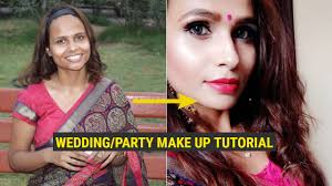 easy wedding party guest make up tutorial ll simple makeup look for every occasion ll hindi video