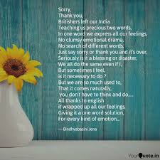 thank you one word or two sorry thank you british quotes writings by bindhya jena