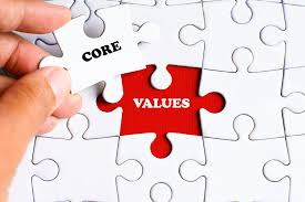 Choose your core values