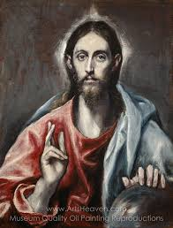 el greco christ as saviour oil painting reion