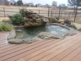 large rock hot tub spa