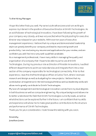 Example Of Executive Cover Letters Sample Of Cover Letter For Executive Director Assistant