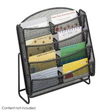 Business Cards Display Stands Onyx™ Mesh 100 Pocket Business Card Holder Qty 100 Safco Products 63
