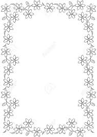 Border Black And White Flower Border Background Black White Stock Photo Picture And