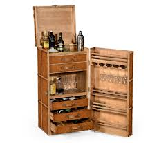 Apartment Size Hoosier Cabinet Jonathan Charles Voyager Wine Cocktail Travel Trunk Cabinet