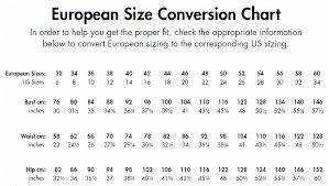 Us To European Size Chart Bikini Size Chart Us Us Size European Size Underwear