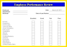 Free Evaluation Templates Free Employee Performance Review Templates Simple Appraisal Form Doc