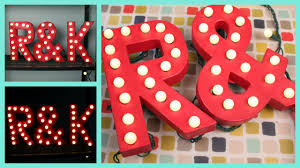 Red Light Up Marquee Letters Diy Easy Marquee Letter Lights Tutorial