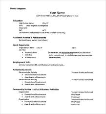 resume for national honor society college application resume templates  college resume template free word excel format