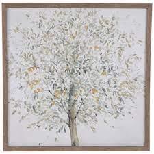 tree on white canvas wall decor hobby