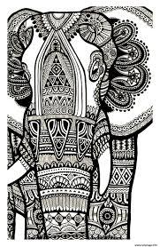 Coloriage Elephant Gratuit Adulte Dessin
