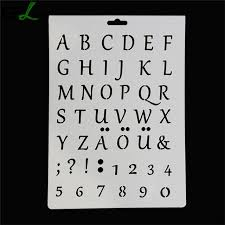 diy new letter alphabet number layering stencils painting mold diy sbooking paper card mold lqw1252