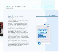 How To Get A Restaurant Job Restaurant Hiring Kit Free Ebook Interview Templates