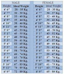 Human Weight Chart Ideal Height And Weight Chart Powcast Sports