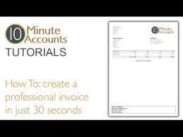 How To Create A Professional Invoice How To Create A Professional Invoice In 30 Seconds Watch This Tutorial
