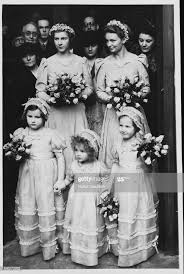 The bridal attendants at the marriage of Myrtle Fletcher to Stanley... News  Photo - Getty Images