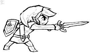 Link Zelda Coloring Pages Google Search Coloring Pages Stencil