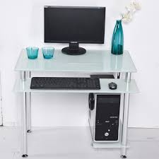 Desktop computer desk home desktop table glass minimalist corner small