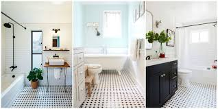 Innovation White Tile Bathroom Floor How To Make The Classic Look Feel Fresh Decorating Ideas