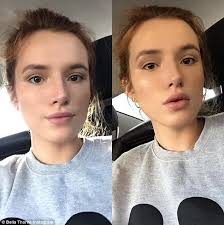 nothing to hide bella thorne is proud to show off the results of her hard