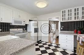 Fototapete Küche Mit Schachbrettmuster