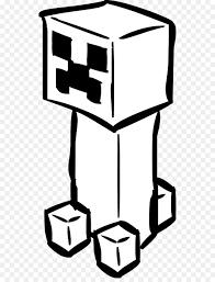 Minecraft Creeper Libro Da Colorare Disegno Clip Art Cartone
