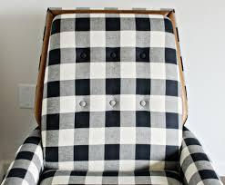 strikingly buffalo check rug black white chairs the vintage