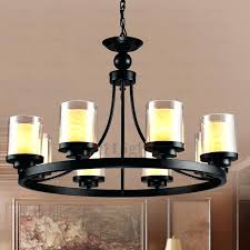 enchanting pillar candle chandelier pillar candle chandelier round