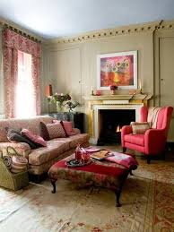 Wing Chairs For Living Room Interior Design Ideas Living Room With Pink Wingback Chair And