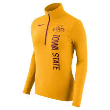 nike 1 4 zip pullover. nike women\u0027s iowa state cyclones dry element quarter zip pullover jacket - main container image 1 4