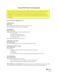 Sales Training Template Sales Training Agenda Sample Templates At