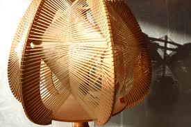 Zeldzame Xl Scandinavische Raffia Houten Lamp Jaren 60 Dehuiszwaluw