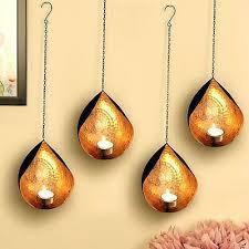 tea light candle holder metal wall
