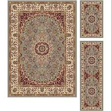 red gold rug 3 piece set gray blue gold red area rug elegance red black gold
