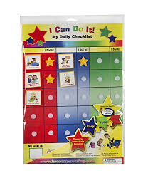Amazon Com Kenson Kids I Can Do It Daily Checklist Toys Games