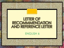 Pattern Of Reference Letter Letter Of Recommendation