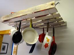 Kitchen Storage For Pots And Pans Home Improvements Pallet Pot Rack A Greenpoint Kitchen