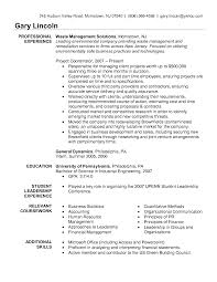 Resume Example Waste Management Consultant Examples Sles For Sle