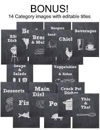 Recipe Binder Templates Chalkboard 32 Page Printable Recipe Book Template Editable Pdf