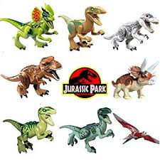 8pcs/lot Dinosaur DIY <b>Assembly Building Blocks</b> Toys <b>Jurassic</b> ...